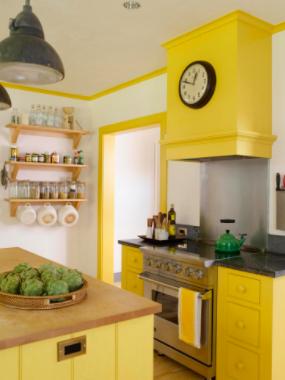 Contemporary kitchen design colours