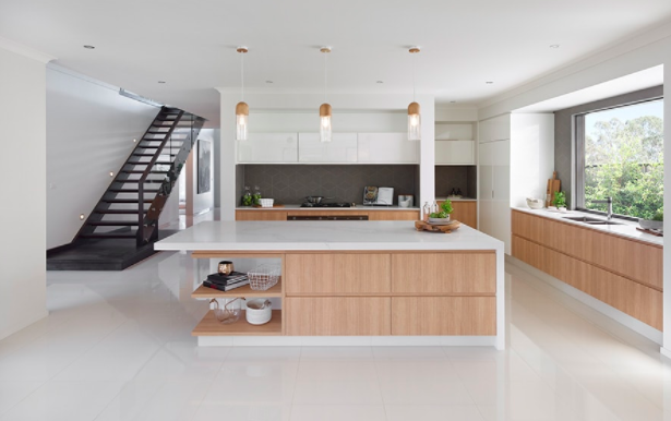 Contemporary kitchen design island