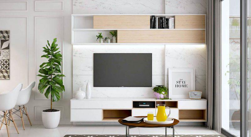 home decorating white interior